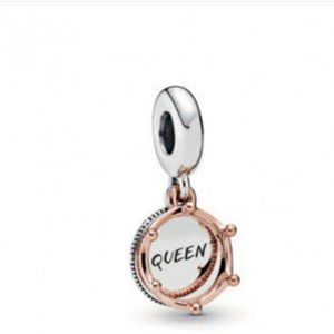 Pandora Queen and regal crown dangle charm